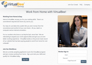 virtualbee 300x212 Virtual Bee Review  Online Job Scam?